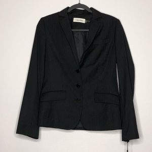 Calvin Klein Navy Pinstriped Suit Jacket Size 6